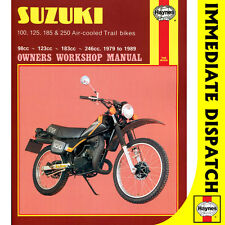 [0797] Suzuki TS100 TS125 TS185 TS250 Air-Cooled Trial Bikes 1979-89 Haynes Work