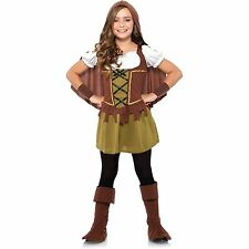 NEW Girls SWEETHEART ROBIN HOOD Wonderland Halloween Child Costume Size L 10-12