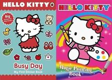 HELLO KITTY ___ 2 LIBRO SET ___ OCCUPATO DAY & PITTURA MAGICA __ ___