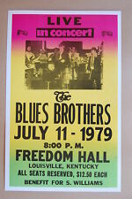 The Blues Brothers Concert Tour Poster 1979 Freedom Hall Louisville Kentucky