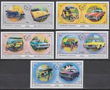 Sharjah 1971 ** Mi.781/85 B Autos Cars Automobile Cadillac Ford Dodge Oldsmobile