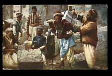 JERUSALEM Palestine Israel Stonemasons at work vintage PPC