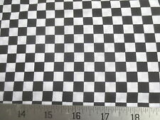 Black & White Racing Check Cotton Fabric
