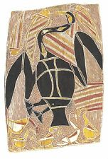 AK Aboriginal Art: Bark Painting Arnhem Land: Stilt-bird Fishing for Catfish