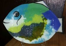 Direkt VOM KÜNSTLER aus Rio Brasilien Fisch Glasschale Schale Deko Muranoglas