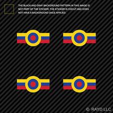 "(4x) 1.5"" Venezuelan Air Force Roundel Sticker Die Cut Venezuela VEN VE"