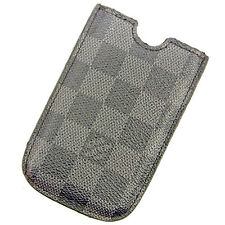 Auth Louis Vuitton iPhone 3G Case Damier Graphite Ladies Men''s Yes used J18902