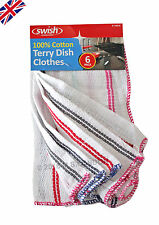 6x Swish Terry Absorbent Kitchen- Cleaning Dish Cloths  (100% Cotton)-NEW