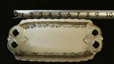 IPF Germany Handpainted Oblong Porcelain Dish Gold Flowers and Trim