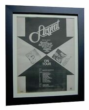 ARGENT+Thunder+TOUR+RARE ORIGINAL 1974 POSTER AD+QUALITY FRAMED+FAST GLOBAL SHIP