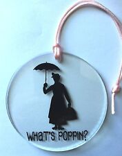 Acrylic Ornament Disney Mary Poppins What's Poppin Umbrella Christmas Holiday