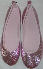 "Shoes girls size 4.5M EUR36 new pink glitter outsole 9"" H&M"