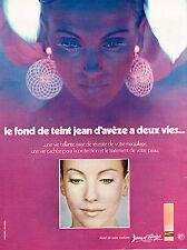 PUBLICITE ADVERTISING 024   1971   JEAN D'AVEZE   cosmétiques  fond de teint