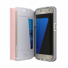 NEW GENUINE TECH21 EVO WALLET FOLIO FLIP CASE COVER PINK FOR SAMSUNG GALAXY S7