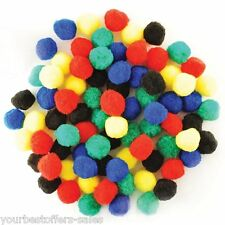 Craft PomPoms Colorful 1 Inch Craft Supplies Art Supply Creativity For Kids New