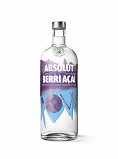 Absolut BERRI ACAI AÇAÍ VODKA POW 1 Litre Brand New Absolute ly totally SEALED!