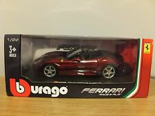 BBURAGO FERRARI CALIFORNIA T OPEN TOP DARK RED CAR MODEL 26011R 1:24 BURAGO