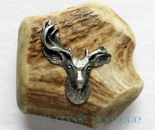 Vintage Deer ANTLER Belt Buckle HUNTING Collectors