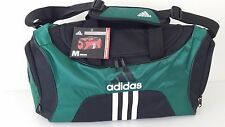 "NWT ADIDAS SCORER MEDIUM Black/Green Duffel Sport Gym Bag Luggage 25""x12.5""x12"""