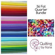 """36 Fat Quarter Bundle, 36 FQ, 18"""" x 22"""", 36 Colours, Cotton"""