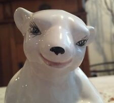 Porcelain Antique Mottahedeh Seated Polar Bear