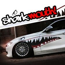 "Shark Mouth Tooth Flying Tiger Die-Cut Vinyl Car Decal Sticker Set 59"" Full Size"