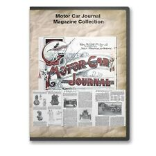Motor Car Journal Magazine Collection: 8 Annual Volumes 1899-1909 DVD - A867