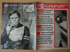 ILLUSTRIERTER MOTORSPORT 3/1974 Simson GS 75 Helme Erste Hilfe Jerzy Szcakiel