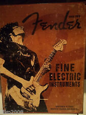 FENDER GUITARS 1954, USA,STRATOCASTER, ANTIQUE-FINISH VINTAGE WALL SIGN 40x30 cm