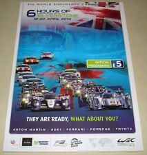 Le Mans-CME SILVERSTONE 6 ore 2014 programma ufficiale di Derek Bell AUTOGRAFATO