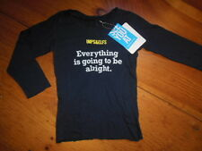 """*NWT* IMPS & ELFS 2T Navy Seam Detail Top """"Everything Is Going To Be Alright"""""""