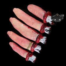 Set 5 Halloween Props Horror Severed Fingers Lifesize Haunted House Decorations