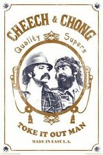 CHEECH AND CHONG - TOKE IT OUT MAN POSTER - 24x36 POT LEAF WEED MARIJUANA 241310