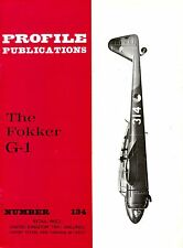 FOKKER G.1 DUTCH FIGHTER: PROFILE PUBS #134/ AUGMENTED NEW-PRINT FACSIMILE ED