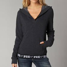 FOX RACING Ladies HERITAGE Pullover Hoodie Sz XS Womens Hoody Jumper Charcoal