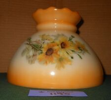 Vtg Antique Yellow Daisy Glass Gone with the Wind Lamp Shade Globe #1170
