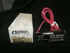 Omega Level Switch, LV60, Pilot Duty, 50 To 240 VAC