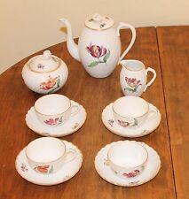 Vintage Nymphenburg porcelain  Tea Set for 4 -Teapot,Creamer,Sugar,4 C & S