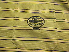 PETER CAFE SPORT Mens Polo Style Shirt,XL,Striped,Portugal,Short Sleeve,Whale