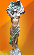 BRONZE STATUE, NOUVEAU DANCER, NUDE FIGURE HOT CAST FIGURINE GIRL SCULPTURE