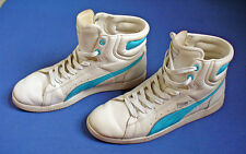 PUMA Womens SNEAKERS Size US 9 First Round HIGH TOP Blue White Athletic Shoes