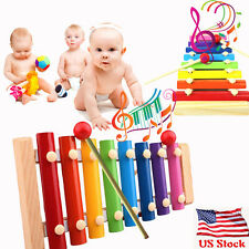 US Stock Baby Kids Musical Toys Xylophone Wisdom Development Wooden Instrument