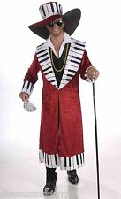 BIG DADDY PIANO PLAYA PIMP ADULT HALLOWEEN COSTUME  SIZE STANDARD FITS UP TO 42