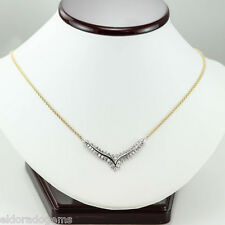 HIGH END NECKLACE 2.75 CT. SI1-G DIAMOND 14K YELLOW & WHITE GOLD LENGHT 18 ITALY