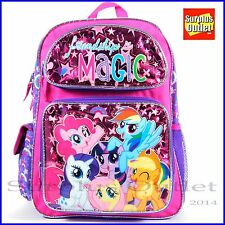 """My Little Pony 16"""" Large School Backpack Book Bag"""