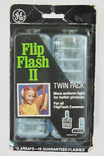 """New"" GE Flip Flash II Twin Pack 2 Arrays-16 Flashes For All FlipFlash Cameras"