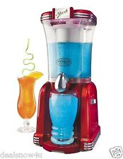 Retro Series Slush Machine Frozen Drink With Mixing Chamber Crushed Ice Fruit