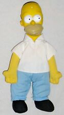 "Plush 11"" HOMER Simpson Boy Doll wearing White Shirt and Blue Pants"