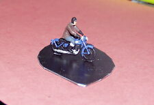 P&D Marsh OO Gauge Z103 1950's Motorcycle & rider PAINTED & finished