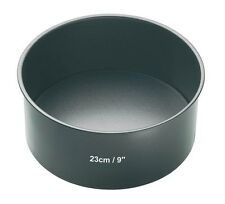 Master Class Non-Stick Deep Round Cake Tin With Loose Base 23 cm (9-inch) Grey